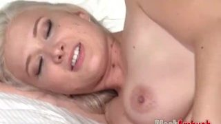 Big Tits Blonde Emily First Big Black Cock and Creampie