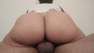 Big booty Latina gives a Creamy ride until he cums